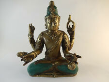 Massive Figur aus Bronze Buddha Skulptur Neu Feng Shui Asia Gottheit Buda Statue
