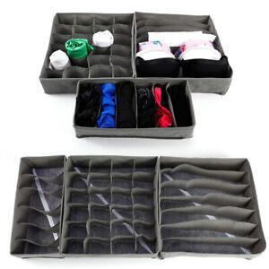 3tlg. Faltbar Unterwäsche Socken Aufbewahrungsbox Organizer Box mit Trennfächer