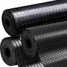 Rubber Matting Flooring Black Heavy Duty Rolls 1.2M, 1.5M Wide X 3MM, 5MM THICK