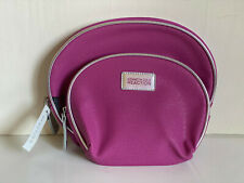 KENNETH COLE REACTION 2-PC DOME TRAVEL MAKEUP POUCH COSMETIC ORGANIZER KIT CASE