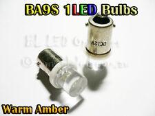 2x BA9S T4W 1895 Bayonet Amber Flat 1-LED Dash Parker