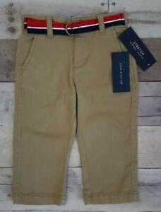 Tommy Hilfiger Baby Boy's Chester Khaki Dress Pants w/ Belt Size 12M, 18M, 24M