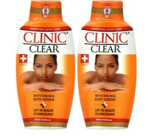 2 x 500ml #Clinic# Whitening clear Body Lotion - ( SWISS FORMULA ) 💯 % ORIGINAL
