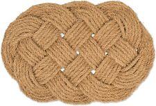 J&M Home Fashions Natural Coco Fiber Non-Slip Outdoor/Indoor Doormat, 18x30
