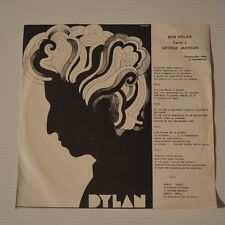 "BOB DYLAN - CANTA A GEORGE JACKSON - 1972 VENEZUELA 2-TRACKS 7"" SINGLE"