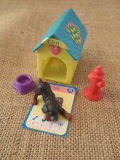 Vintage Hasbro Puppy in My Pocket Suzie #19 Cliff Black Rottweiler w/ Card
