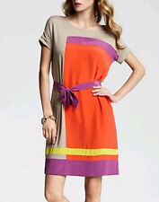 "$218 BCBG BT POPPY COM ""LOUELLA"" SHORT SLEEVE SILK BLEND DRESS (no belt) NWOT S"
