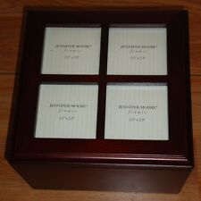 Wood PHOTO BOX Jennifer Moore Frames wooded picture box rosewood finish w/Box