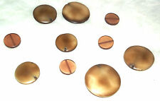 10 Large Brown beads for jewellery making - 10 Large Brown beads - New