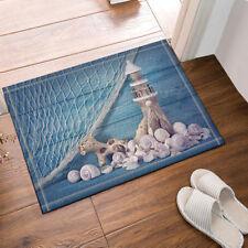 "Lighthouse On Wooden And Fishing Nets Bathmat Bathroom Rug Non-Slip Mat 16x24"""