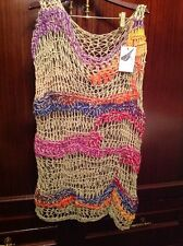 Lovebird Collective Crochet Cotton Beach Coverup Fishnet