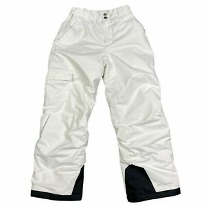 Columbia Youth Omni Heat Snowboard Pants Insulated White Black 100% Polyester M
