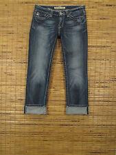 Big Star SWEET W26xL27 Ultra Low Rise Slim Fit Stretch CROP Leg Jeans 3WSWC9NE