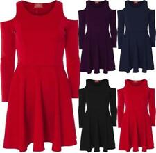 Polyester Party/Cocktail Machine Washable Solid Dresses for Women