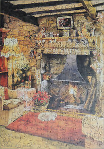 """Wentworth 250 Piece Wooden Jigsaw Puzzle. """"Country Cottage 1"""" David Elliot"""