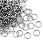 100 Anneaux de jonction Argenté mat 6 mm ouvert 6mm creation bijoux, bracelet,