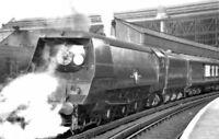PHOTO  SR MERCHANT NAVY NO. 21C18 'BRITISH INDIA LINE' 'BOURNEMOUTH BELLE' LEAVI
