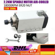 2.2KW ER20 Luftgekühlter Spindelmotor 6A 18000rpm 220V Gravur Fräsmotor DHL