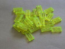 Lego 2412b # 30x Gitter Fliese 1x2 Transparent neon grün 7264 7166 7317