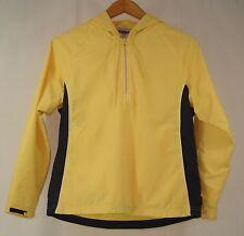 Reebok Women's Yellow Quarter Zip Long Sleeve Hoodie Track Suit Top S UK10 NWOT