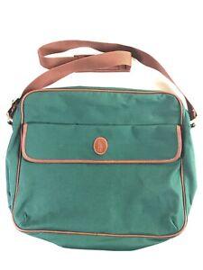 Vintage Polo Ralph Lauren Green Laptop Or Book Crossbody Messenger Bag Shoulder