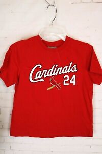 MLB St Louis Cardinals Baseball #24 Rick Ankiel, Red T-Shirt, Child's Size 7