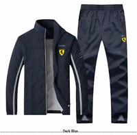 Men TrackSuit Sport Jacket Coat Top Track Suit Trousers Pants Outfits 5 Colors