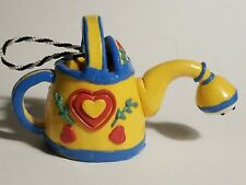 Vintage Mary Engelbreit Collection Watering Can Ornament Yellow&Blue w/Red Heart