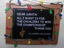 Cleveland Cavaliers NBA Resin Chalkboard Sign Christmas Tree Ornament