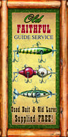 Fish Guide Service Novelty Sign | Funny Home Décor Garage Wall Plastic Gag Gift