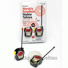 World's Smallest Walkie Talkies Talking Walke Talke Small Mini Toy 150 Feet