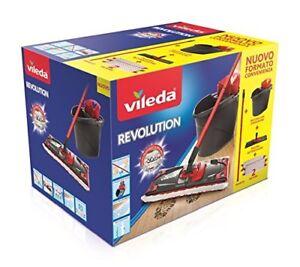 Vileda Revolution Box Sistema Lavapavimenti 2 in 1 Set con Strizzatore e Secchio