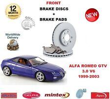 Per Alfa Romeo Gtv 1999-2003 3.0 Dischi Freno Anteriori Set + Kit Pastiglie