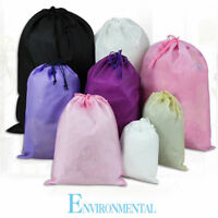 New Home Travel Non Woven Laundry Pouch Tote Drawstring Storage Bag Organizer