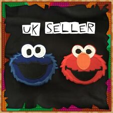 Elmo + Cookie Monster Sesame Street Iron /Sew On Embroidered Patches