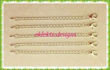 """5pc 4"""" Silver Plated Lobster Clasp Extender Chain Ends Jewelry Findings Necklace"""