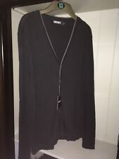 mens DKNY cardigan xl in black