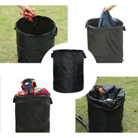 Collapsible Garbage Can Black Universal Folding Trash Can Portable Multifunction