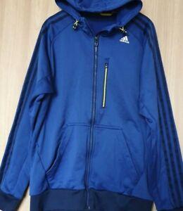 Adidas Climalite Blue Tracksuit hoodied Jacket Size Medium Zipped Pocket