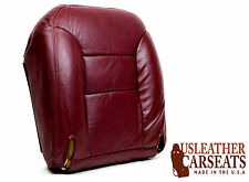 97 98 99 Chevy Silverado Driver Side Bottom Leather Seat Cover Red