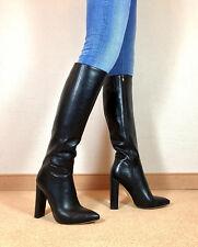 Gr.43 TOP! Exklusiv Sexy Damen Schuhe Knee Knie Stiletto Stiefel Männer Boots F7
