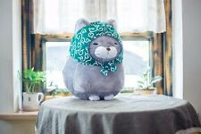 big lovely plush gray cat toy stuffed fat cat doll gift about 40cm