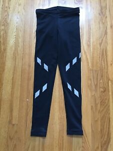 Sugoi MidZero Running Cycling Track Pants Black Refective XS Mint!