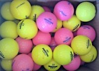20 Bridgestone Lady Models Yellow & Pink Golf Balls Pearl/A Grade