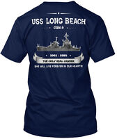 Uss Long Beach Hanes Tagless Tee T-Shirt
