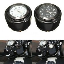 """Universal 7/8"""" 22mm Motorraduhr Lenker Uhr Mount Aluminum Wasserdicht Für Harley"""