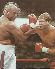 TOMMY MORRISON vs GEORGE FOREMAN 8X10 PHOTO BOXING PICTURE CLOSE UP ACTION