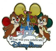 Disney Chip & Dale with Balloons Rewards Visa Cardmember Celebrate Castle Pin