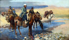 Framed canvas art print giclee Horses at the Ford - Persia Edwin Lord Weeks