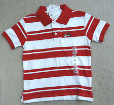 TWO FEET AHEAD red/white Univ. of Louisville CARDINALS Rugby Golf Polo shirt,3T